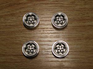 Aluminium Beadlock Wheels 'B' Silver (SI-B)