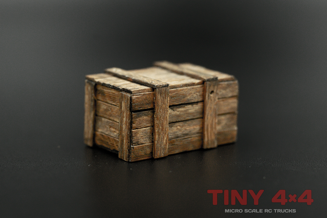 Wooden Cargo Crates for 1/24 to 1/35 Micro RCs