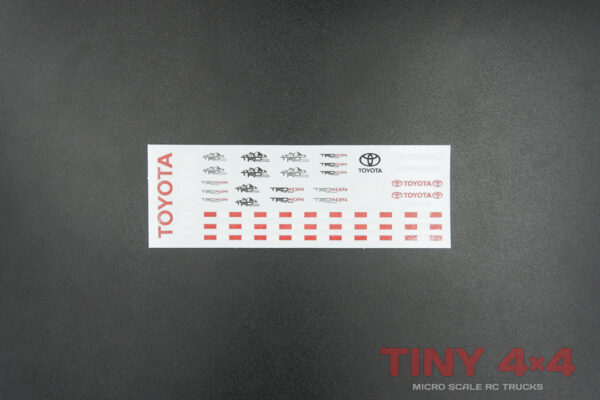Toyota TRD Logo Decals for Orlandoo 1/35 1/32